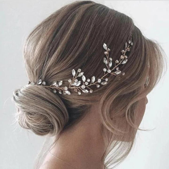 crystal hair vine for bride, rose gold hair vine, wedding headpiece, rhinestone hair vine, Wedding bridal Headpiece, bridal hair accessories