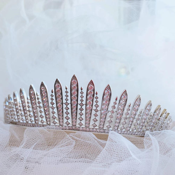 Bridal Tiara Crystal Tiara - FRINGE TIARA, Swarovski Bridal Tiara, Crystal Wedding Crown, Rhinestone Tiara, Wedding Tiara, Diamante Crown