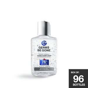96 Pack - 75% Germs Be Gone - 60ml (2oz)