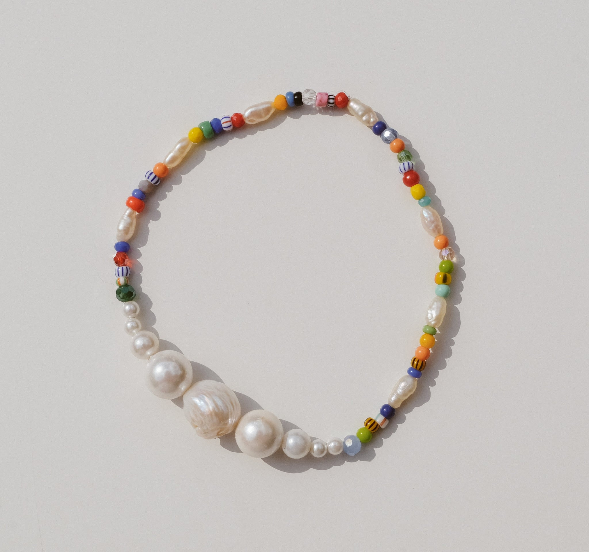 Luiny - Simple Pearls Anklet (Multicolor)