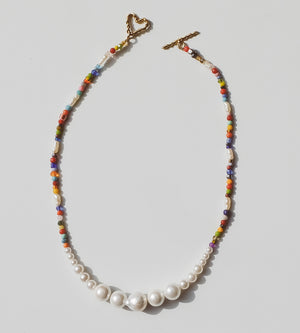 Luiny - Simple Pearls Necklace (Multicolor)