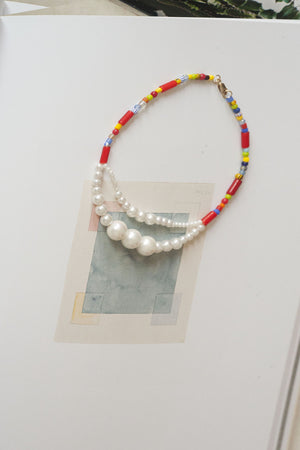 Luiny - Double Pearls Anklet (multicolor)