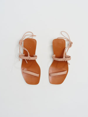 LoQ - Leona Sandals in Nude Leather