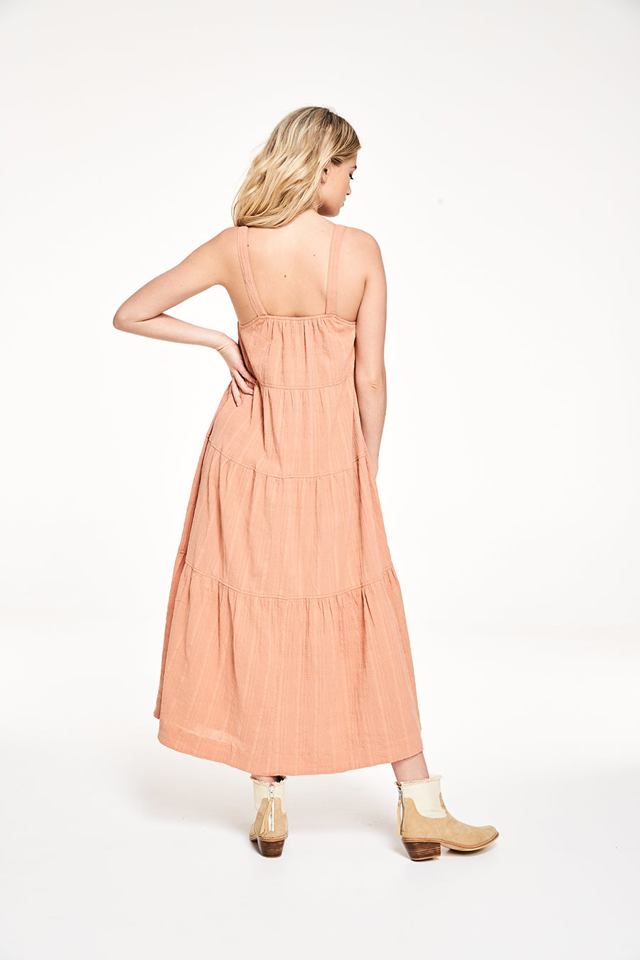ROWIE - Bo Midi Deep Clay Dress