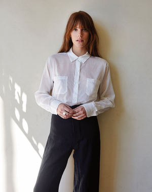 JESSE KAMM - Black Linen Sailor Pants