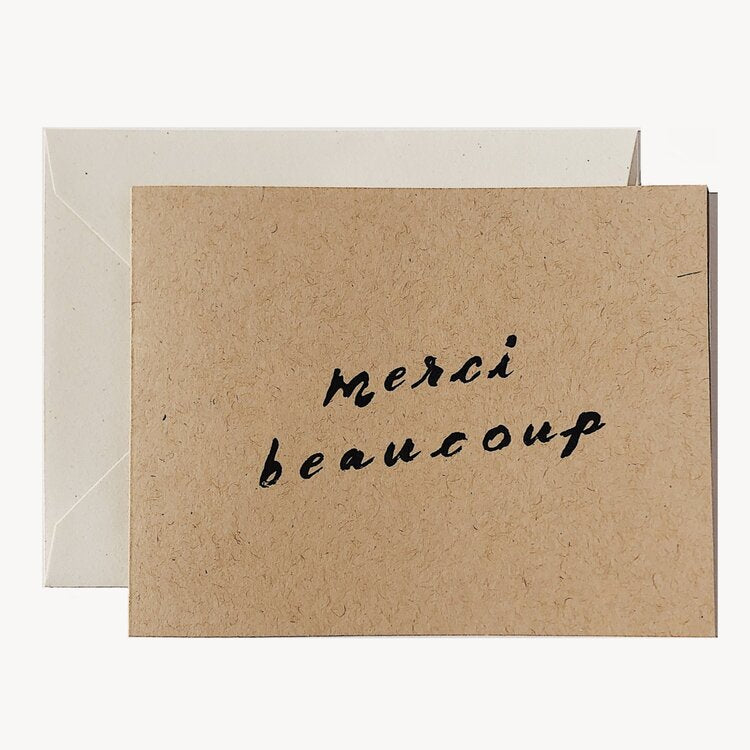 Wilde House Paper - Merci Beaucoup Card