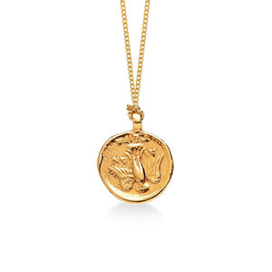 Zaza Culture - Ancient Goddess of Good Luck Coin Necklace