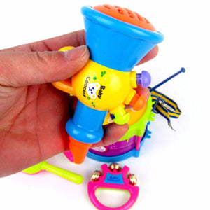 Rattle drum shaker toy musical instruments band kit