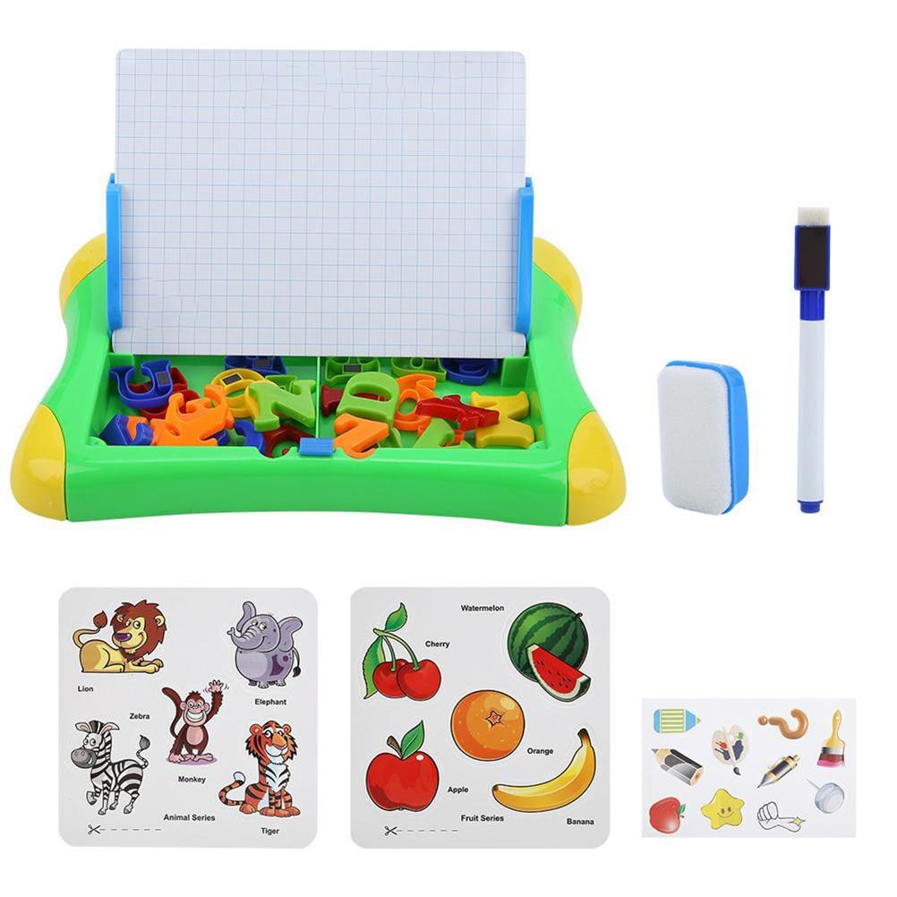 Portable magnetic drawing and writing board