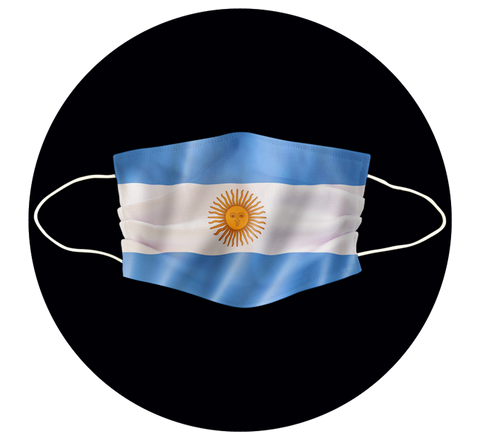 ARGENTINA FLAG - 3 LAYER CLOTH MASK