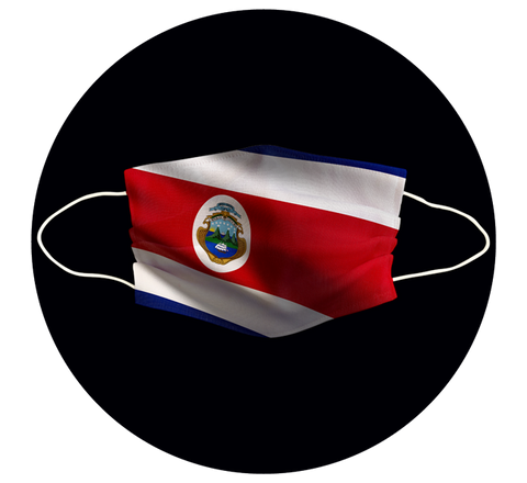 COSTA RICA FLAG - 3 LAYER CLOTH MASK