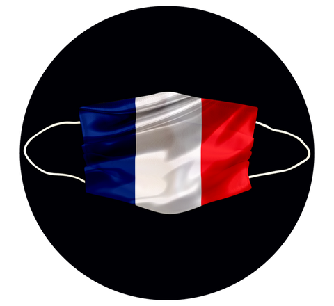 FRANCE FLAG - 3 LAYER CLOTH MASK