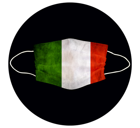 ITALY  FLAG - 3 LAYER CLOTH MASK