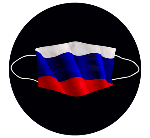 RUSSIA FLAG - 3 LAYER CLOTH MASK