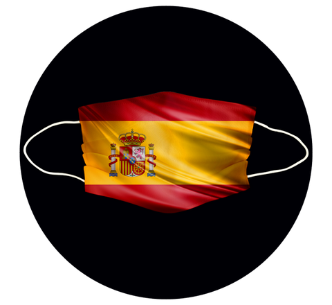 SPAIN FLAG - 3 LAYER CLOTH MASK