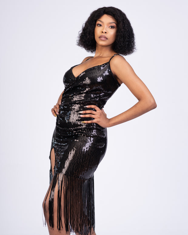 Andy_Rala Sequin Dress - Black