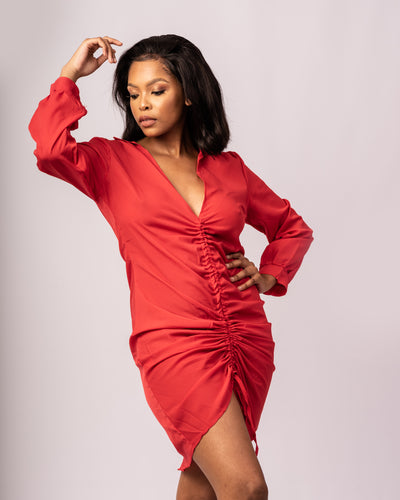 Miss Simple  Mini Dress - Red