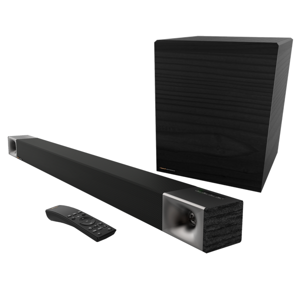 "Klipsch 45"" Powered 3.1 Sound bar 600w 8"" Wireless Sub Combo Package"