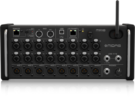 Midas MR18 Digital 18ch Mixer for Tablet Use
