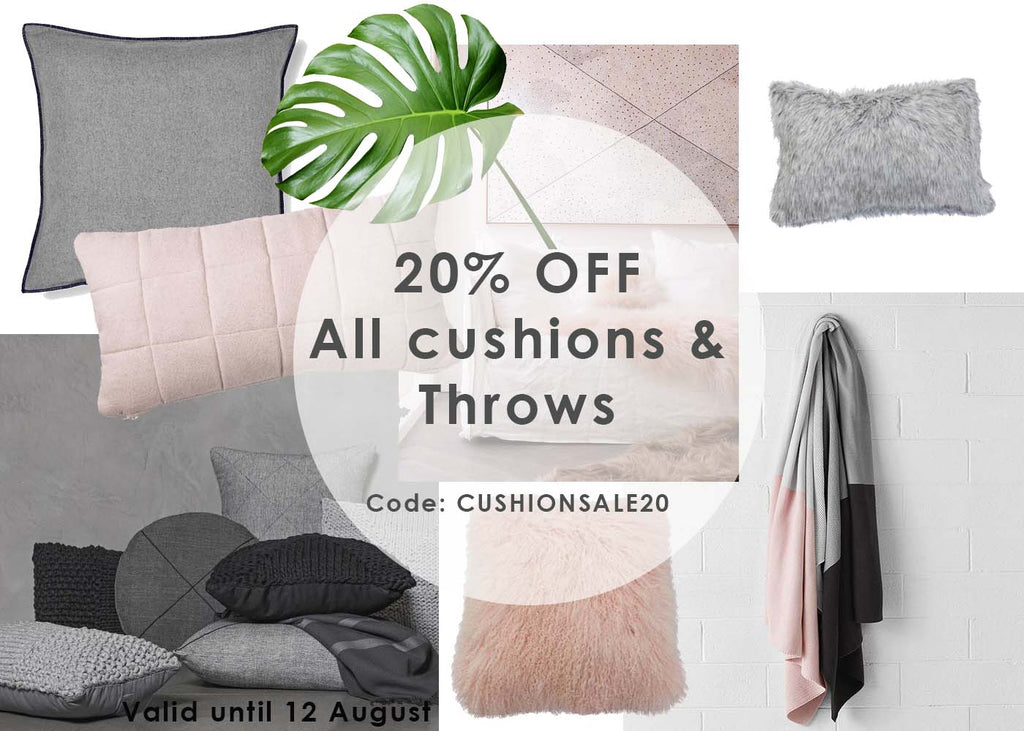Cushion Sale 20% Off