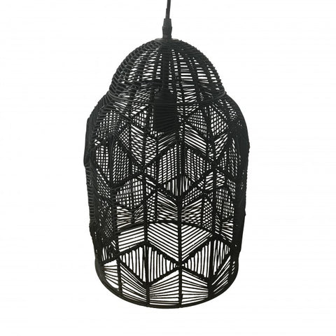 Black Lace Pendant Light - Small set of 2