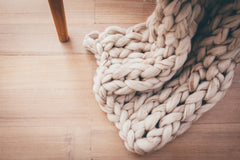 Olivia Hand knitted Throw Rug - MINT Interior Design