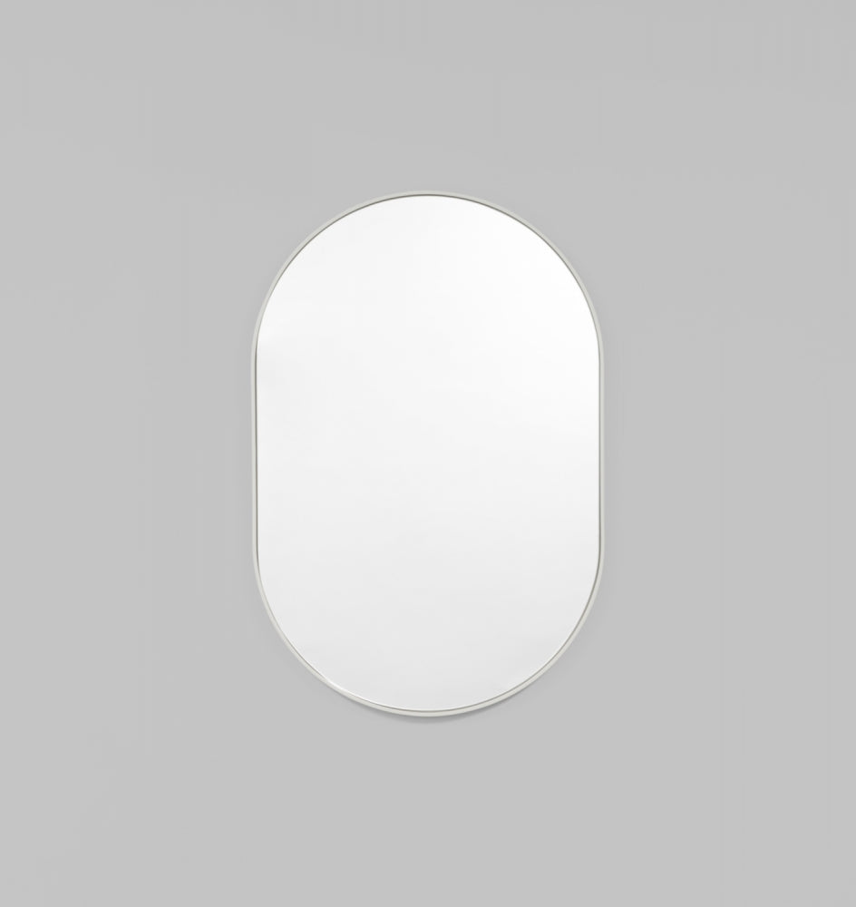 Bjorn Oval Dove Mirror