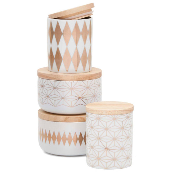 Gold Diamond Canister Large - MINT Interior Design