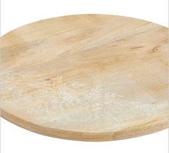 Round Serving Board with Etching