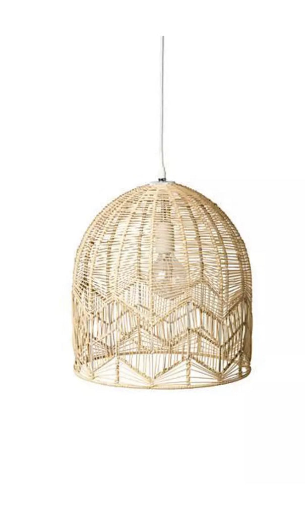 Natural Lace Pendant Light - Large Set of 2