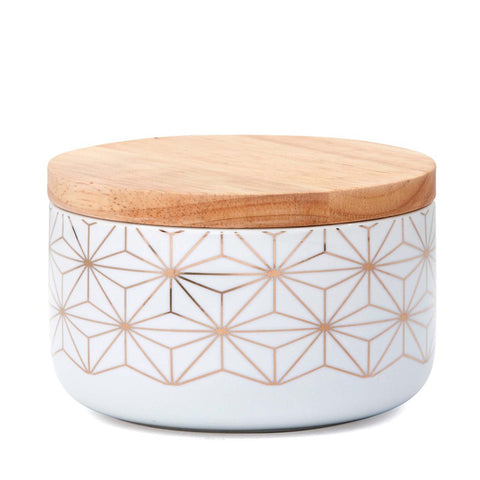 Gold Starburst Canister Large - MINT Interior Design