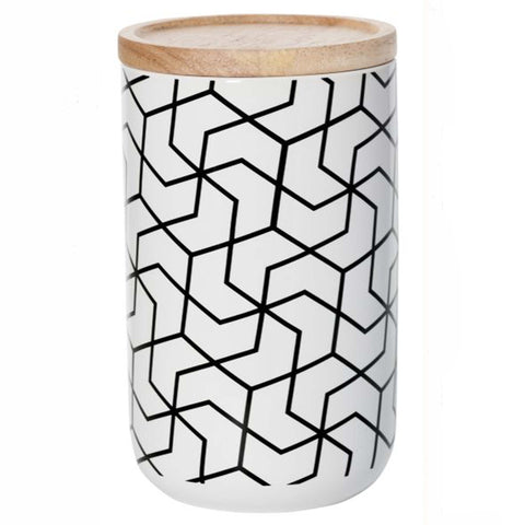 Spiral Hex Canister Large set of 4
