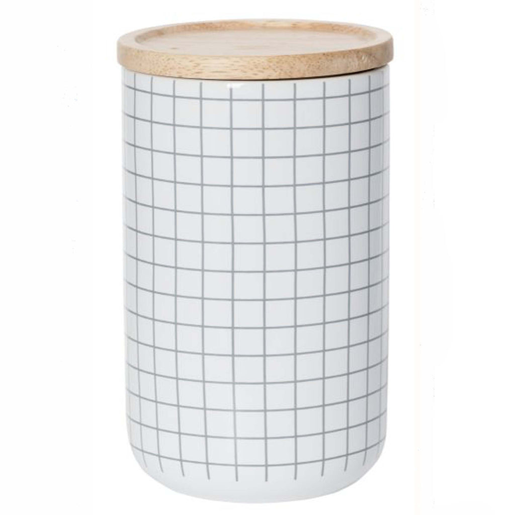 Grey Grid Canister Large - MINT Interior Design
