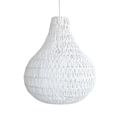 Rope Pendant Light - White
