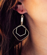 Load image into Gallery viewer, Geometric Drop Earrings