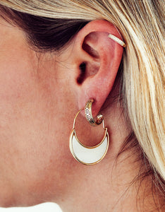 Golden Lace Hoop Earrings