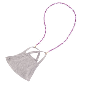 Bright Purple Mask Chain