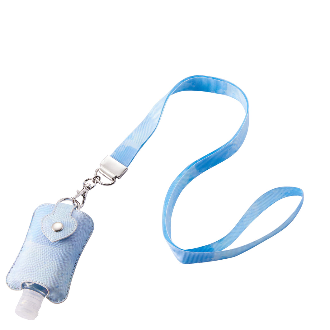 Blue Tie-Dye Sanitizer Holder Necklace