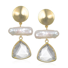 Load image into Gallery viewer, Freshwater Pearl Statement Drop Earring