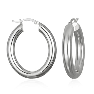Classic Silver Hoop