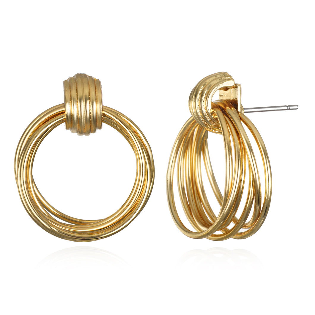 Golden Circle Stud Earring