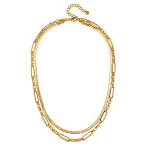 Multi-Layered Chain Necklace