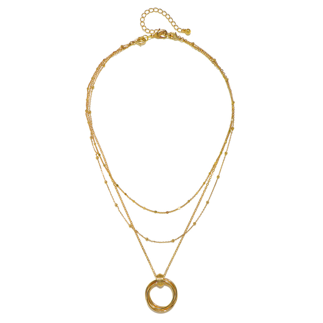 Golden Circle Pre-Layered Versatile Necklace