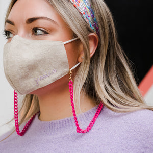 Hot Pink Mask Chain