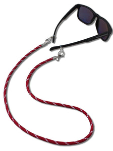 Hold Tight Glasses Strap — Maroon + White Cord
