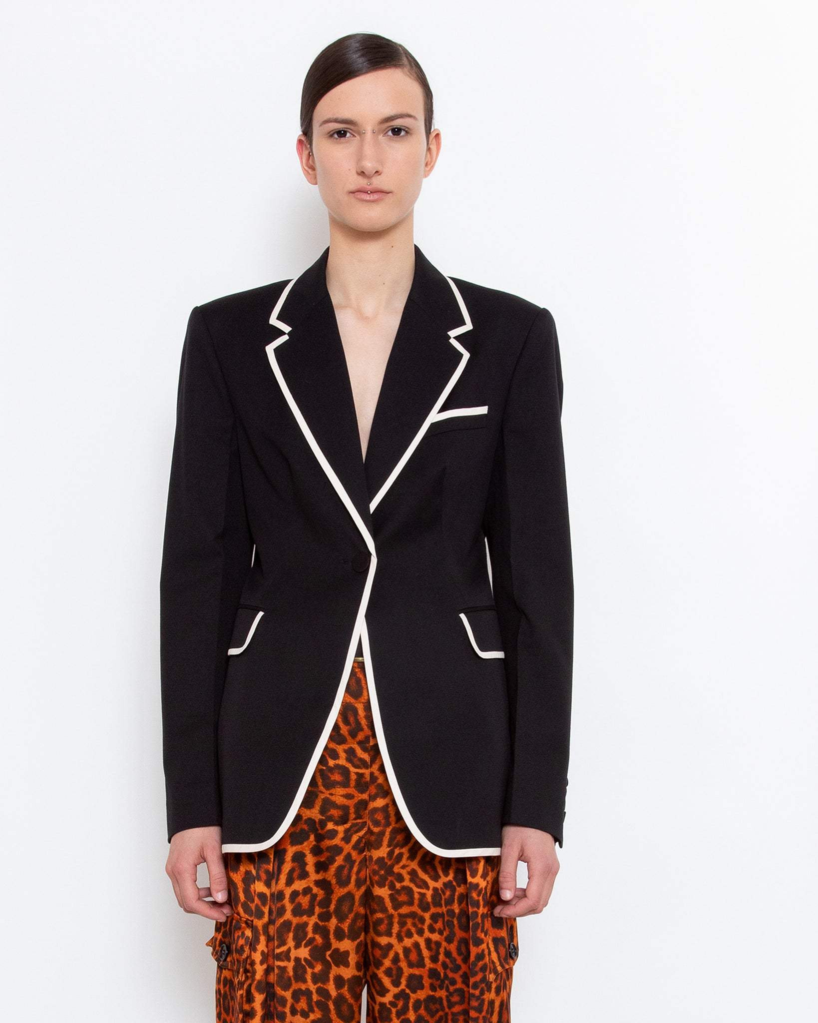 BACHELORE TAPE fitted blazer
