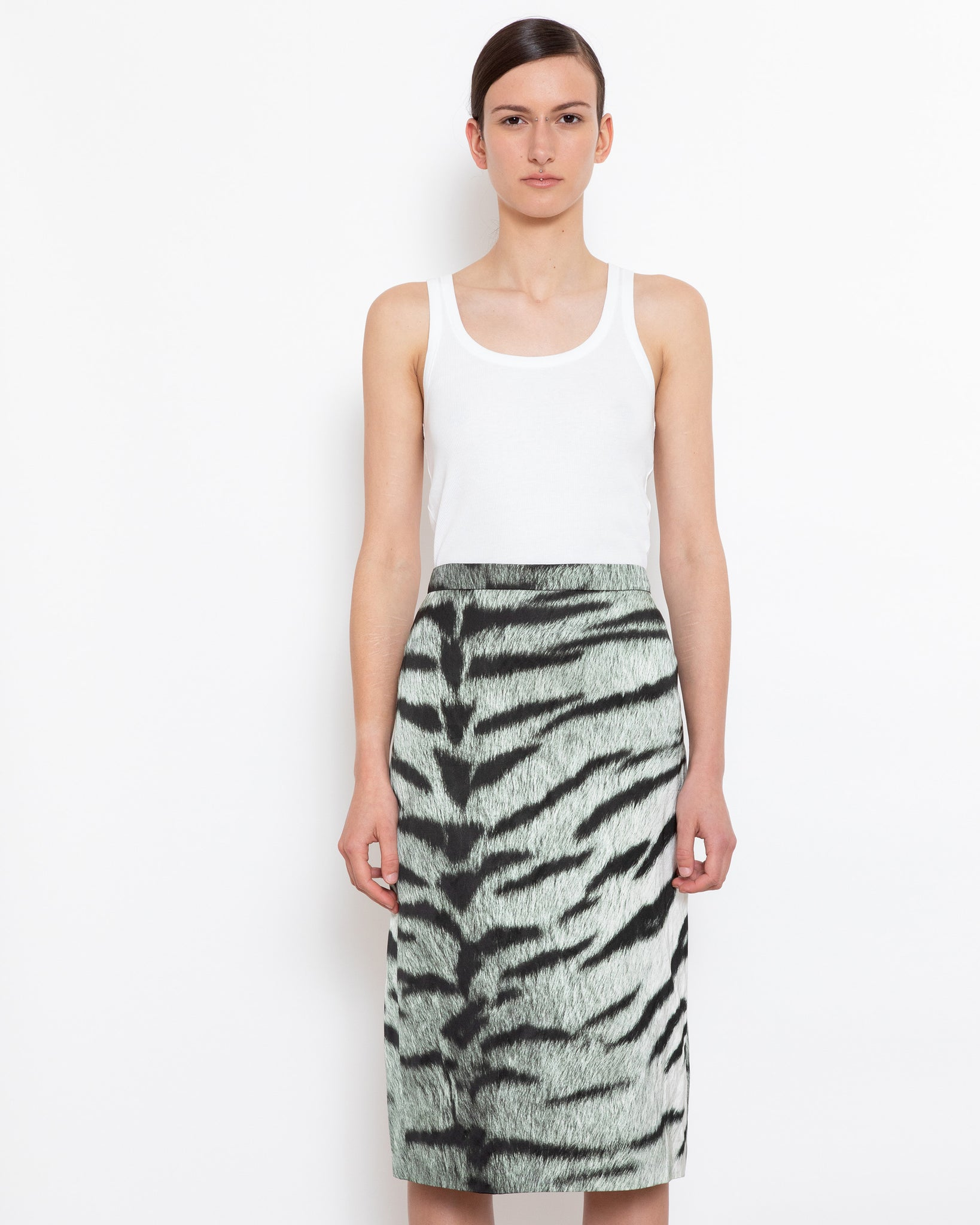 SANTONY LONG long pencil skirt