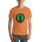 Emoji T-Shirt Store | Peacock emoji t-shirt in Orange