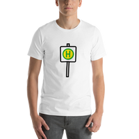 Emoji T-Shirt Store | Bus Stop emoji t-shirt in White