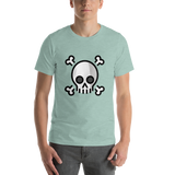 Emoji T-Shirt Store | Skull And Crossbones emoji t-shirt in Green